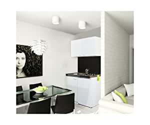 respekta mk 100 wos mini cuisine quip e 100 x 60 cm avec 2 plaques de cuisson et meuble haut. Black Bedroom Furniture Sets. Home Design Ideas