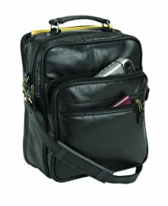 Falcon, Balmoral FI8172 black Leatherette grip flight tote cabin travel bag