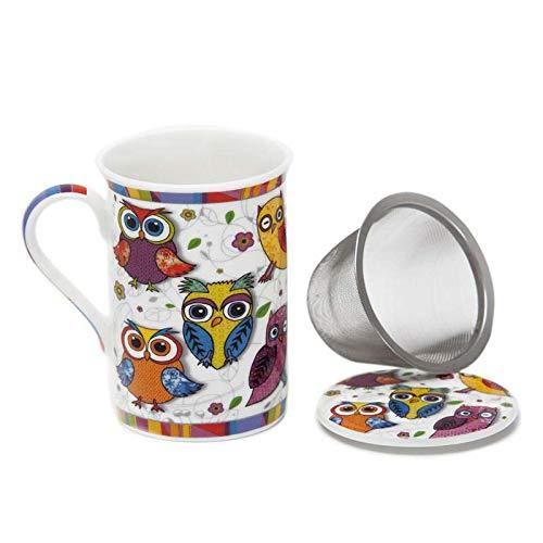 Aromas de Té - Taza de Té con Filtro y Tapa/Tisana Infusiones y tes de...