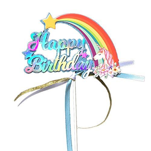 Ndier Regenbogen Kuchen Deckel Geburtstags Party Dekoration Kuchen Plugin Kuchen Deckel |Rosa/Blau Home dekor (Dekor Geburtstag Kuchen)