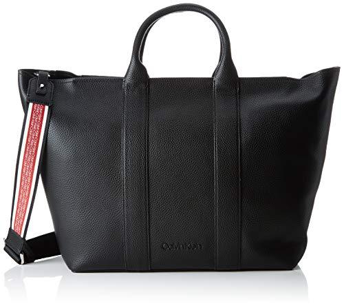 Calvin Klein - Race Ew Shopper, Bolsos totes Mujer, Negro (Black), 15x52x32 cm (B x H T)