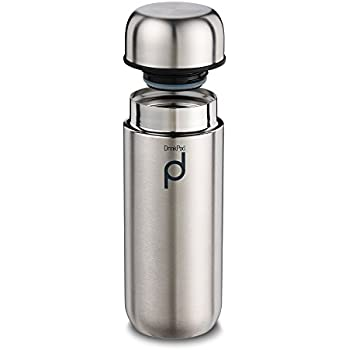 Thermos isotherme anti-fuite Pioneer Drinkpod - 8heures chaudes, 24heures froides, Acier inoxydable, satiné, 200ml