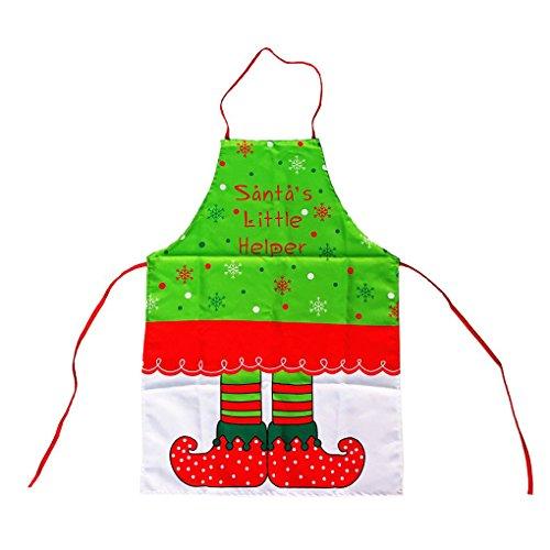 Aiming Grembiule da Cucina di Natale Decorazioni Cute Christmas Elf Modello di Stampa delle Donne Grembiule