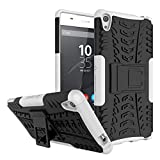 RONGZOM - Sony Xperia XA Ultra Coque, Heavy Duty Antichoc 360 Degres Protection Bumper Non Slip Surface Housse Etui pour Sony Xperia XA Ultra 6.0 inch (Blanc)
