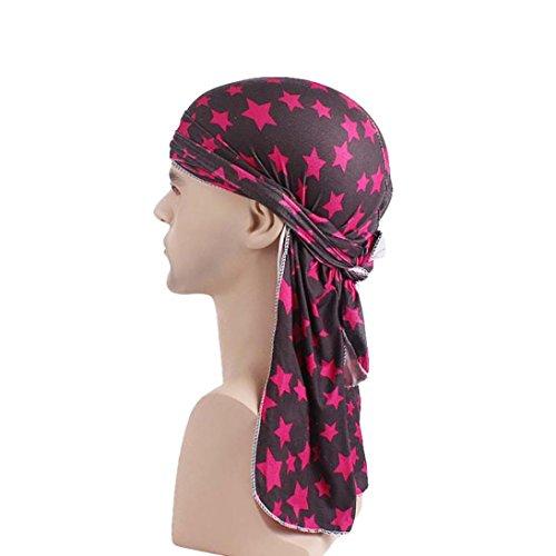 Mitlfuny Turban Unisex Indien Afrika Sommer UV Schutz Microfaser Kopfbedeckung Elegant Bandana Kopftuch Set FüR Chemo, Krebs, Haarverlust, Schlaf, Make Up (rot)