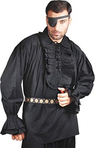 Captain Charles Vane Piraten Shirt - Black (Baumwolle), ()