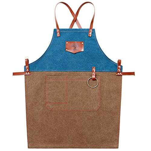 Schürze Cowboy Cafe Tea Shop Overalls für Herren und Damen Küchenschürze (Color : B) -