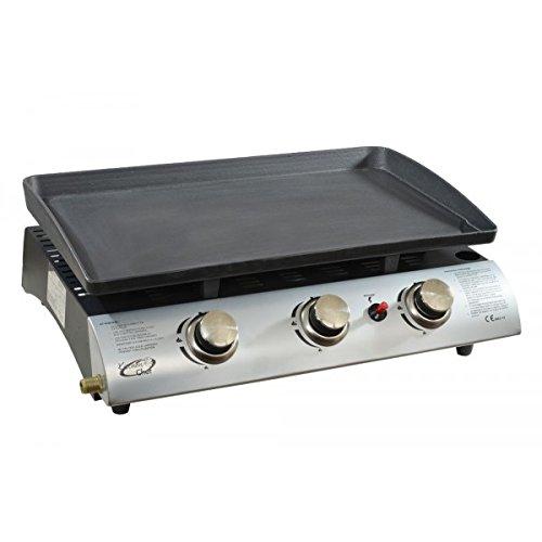 Kitchen Chef - 1003a - Plancha gaz 7500w Plaque Acier émaillé 63x35,5cm