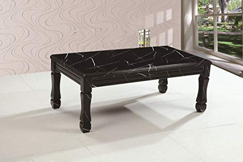 7star Marble Effect Coffee Table In Black Furniture Sale