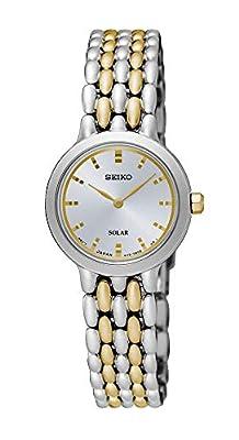 Seiko Reloj Analógico para Mujer de Energía Solar con Correa en Acero Inoxidable SUP349P1