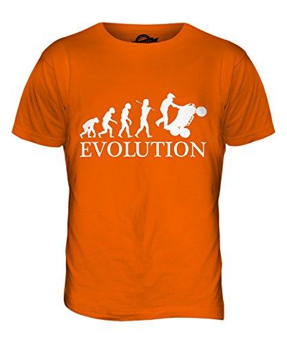CandyMix Atv Quad Evolution Des Menschen Herren T Shirt Orange