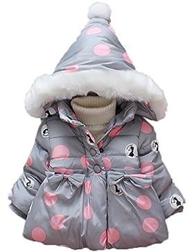 Koly Baby Girl invierno abrigo de algodón con capucha Thick Warm Outwear Ropa ropa deportiva bebe niña Moda chica...