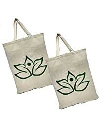 Maheshwari Reusable Shopper Bag, Pack Of 2 Cotton Bags