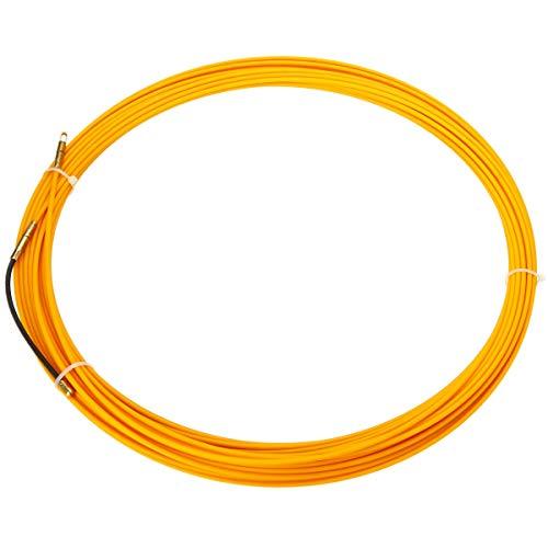 SODIAL 10 M 3 Mm FüHrungs Vorrichtung Fiber Glas Elektro Kabel DrüCken Abzieher Rohr Schlange Rodder Fisch Band Draht - Elektro-schlangen
