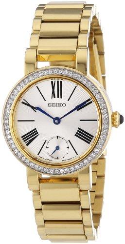 Seiko Classic - Reloj de cuarzo para mujer, con correa de acero inoxidable, color dorado