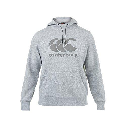 Canterbury Men's Core Logo Over The Head Hoody - Grey Marl, Large -