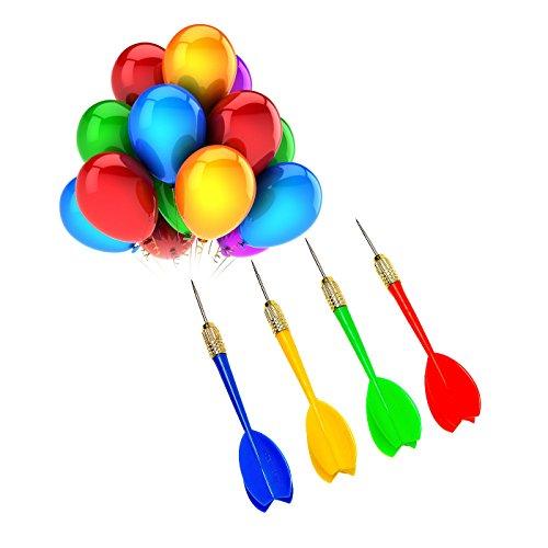 24 Stück Stahl Spitze Kunststoff Karneval Ballon Darts , Großartig Für Die Party