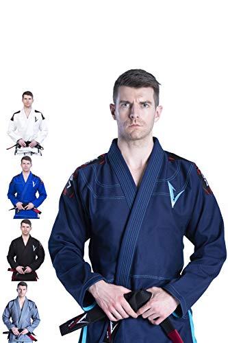 Vector - Kimono de Tela de algodón 100%, Ligero, Estilo brasileño Jiu Jitsu BJJGi, A2, Marino
