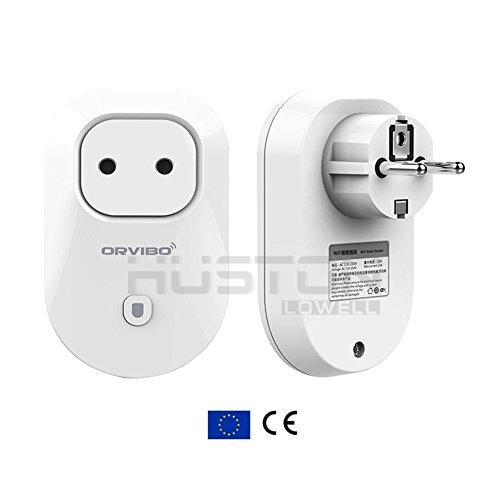 Aution House - Orvibo Wifi Inteligente Presa di Corrente EU Spina - Attivare / Disattivare (Ieee 802.11b / G / N Usb)