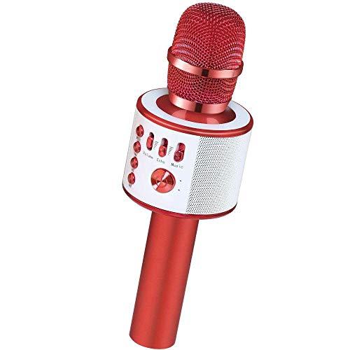 JASZW Mikrofon-Karaoke, drahtloses tragbares Karaoke-Lautsprecher-Hauptgeburtstagsfeier-Mikrofon Bluetooths/für iPhone/Android/PC/alle Smartphones