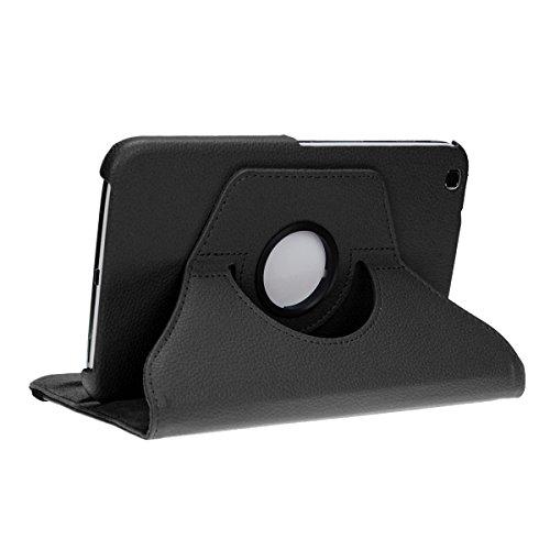 doupi Deluxe Schutzhülle für Samsung Galaxy Tab 3 (8 Zoll), Smart Case Sleep/Wake Funktion 360 Grad drehbar Schutz Hülle Ständer Cover Tasche, schwarz