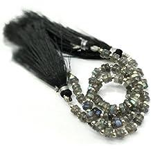 Prime vendita su Amazon Powered by gioiello perline per 1filo labradorite naturale 4–5mm pneumatico sfaccettato perline lungo 16,5cm.