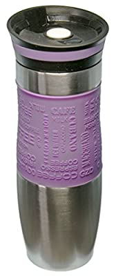 Insulated Vacuum Travel Mug, One-Handed Open and Drink, Very High Quality, Double Walled and Leakproof for any Hot and Cold Drink (480 ml, 16 oz)
