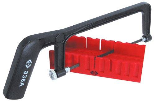 C.K T0837 Monture de petite scie à métaux professionnelle + Boîte à onglet 150 mm
