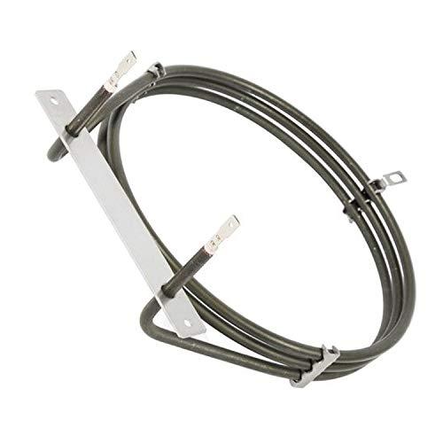 Elemento Calefactor para Horno Remipart, 3 Vueltas, para hornos de Cocina Zanussi ZUF270W 944171378 (2500 W, 240 V)