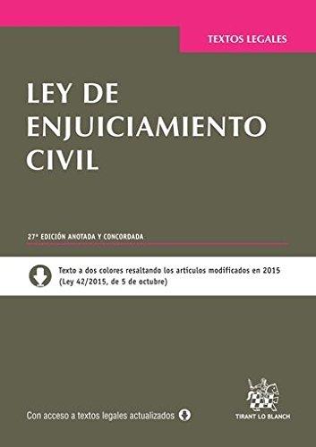 Ley de Enjuiciamiento Civil 27ª Edición 2015 (Textos Legales) por Juan Montero Aroca