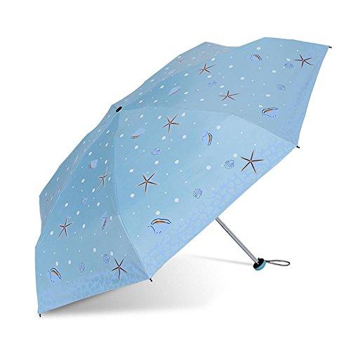 JAYLONG Mini paraguas de viaje 7 costillas a prueba de viento robusto portátil de acero inoxidable construcción de secado rápido paraguas plegable impermeable para mujeres, hombres, niños y niños, A