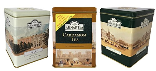 Schwarztee Mischung Orientbazar24® in Earl Grey- Special Blend und Kardamom in Geschenkdosen von Ahmad Tea