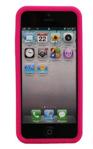 Luxburg® In-Colour Design Schutzhülle für Apple iPhone 5S / 5 in Farbe Türkis Blau / Hellblau Hülle Case aus Silikon Pink / Rosa