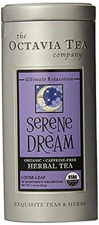 Octavia Tea Serene Dream (Organic, Caffeine-Free Herbal Tea) Loose Tea, 1.41-Ounce Tin