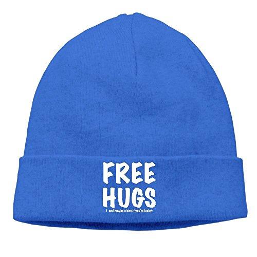 LuoKuan RichardLyons Mens Free HUGS Warm Jogging Royalblue Beanies Watch Cap