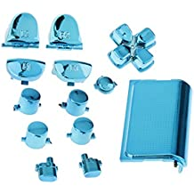 MagiDeal Blue-Chrome Plating Buttons Housing And Touchpad For PS4 Controller Shell Protection Easy Install Repair Kit Perfect Fit