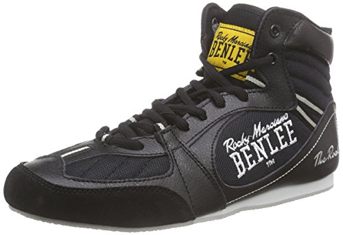 "BENLEE Rocky Marciano Herren Boxing Boots ""The Rock"", black/concrete grey, 43, 199036"