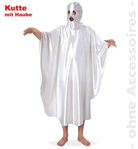 Kostüm Poltergeist, Kutte mit Haube, Gespenst für Erwachsene in Gr. L + XXL Halloween Karneval Fasching Mottoparty *NEU bei Pibivibi© (Large) (Gruselkostüme)
