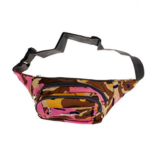 Taktische / Militärische Hüfttasche, Bauchtasche, Gürteltasche - Camouflage, Cool Tarnfarbe Hellrosa