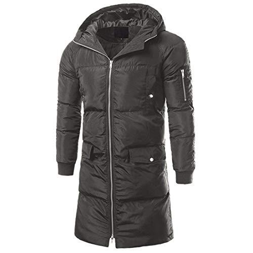 Männer Nner Coat Winter Kapuzen Gepolstert Mantel Dicken Herrenmode Baumwolle Lange Jacken Langarm Warme Steppmantel Übergangsjacke (Color : Grün, Size : 5XL)