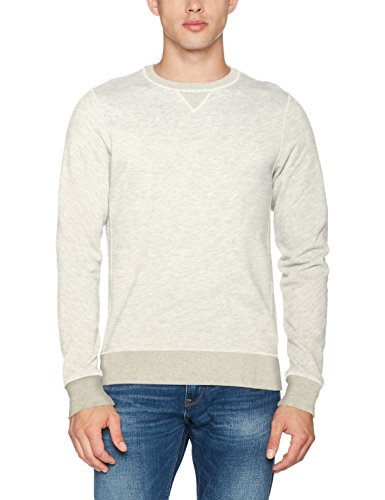 Scotch & Soda Herren Sweatshirt Nos-Classic Crew Neck Sweat Grau (Stone Melange 080)
