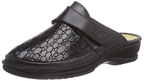 Scholl Leni Black, Chaussures de Claquettes femme Noir - Noir