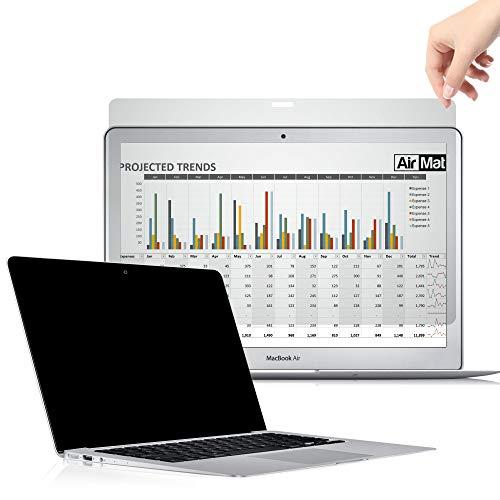 Premium Blickschutzfilter für MacBook Air/Pro, Privacy Screen Filter, Anti-Spy Blickschutzfolie von AirMat (11 Zoll MacBook Air, Schwarz)