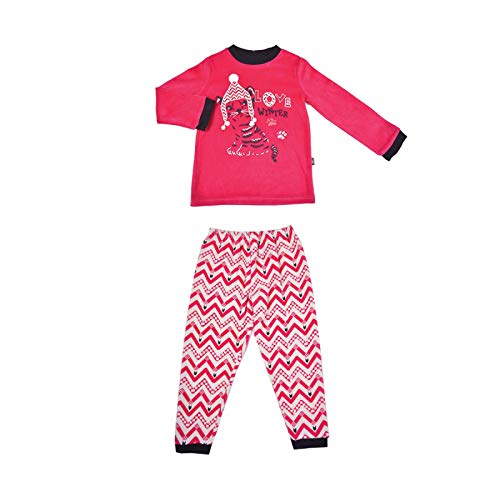 Pyjama fille manches longues Love winter - Taille - 6/8 ans (116/128 cm)