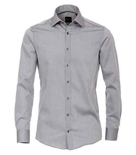 Venti Herren Businesshemd Hemd (Grau 700), 41
