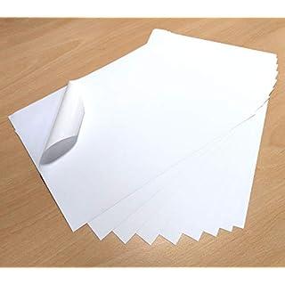 10 Sheets White Waterproof A4 Vinyl PVC Matt Self Adhesive Sticker Quality Strong Laser & Inkjet Printable FBA