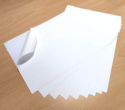A4, 10hojas color blanco impermeable vinilo PVC