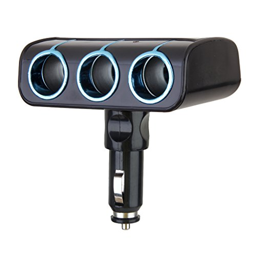 3 In 1 Auto Van Del Sigaro Presa Accendisigari Tripla Caricatore Dell'adattatore Di Potere - Sigaro Pomello