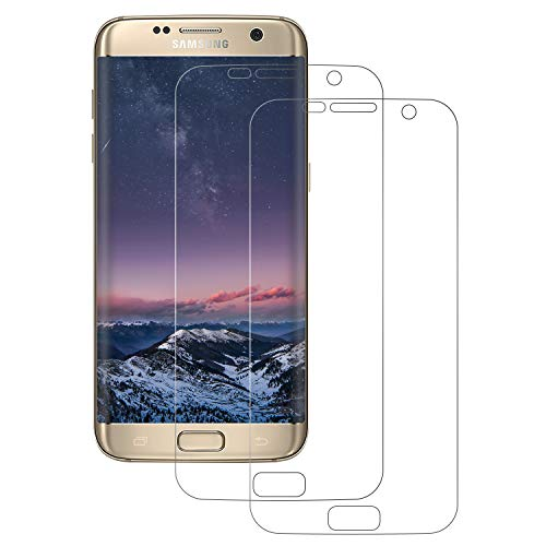 FayTun Schutzfolie für Galaxy S7 Edge, [2 Stück] TPU Bildschirmschutzfolie, [3D Touch Kompatibel] [Anti-Kratzer] [Full Cover] [Upgrade Version], Keine Blasen Folie für Galaxy S7 Edge (Nicht Panzerglas)