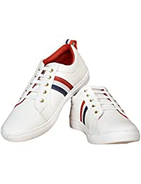 Ample Men's White Sneaker Casual Shoes